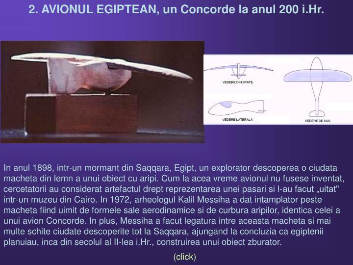 2. AVIONUL EGIPTEAN, un Concorde la anul 200 i.Hr.