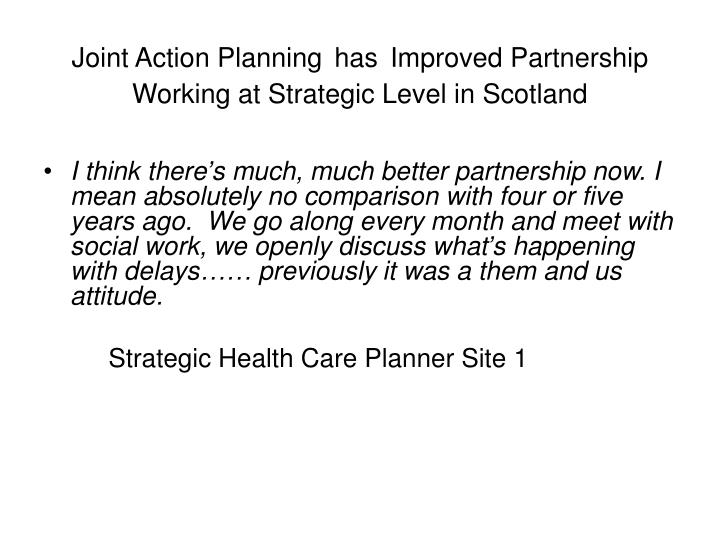 Joint Action Planning