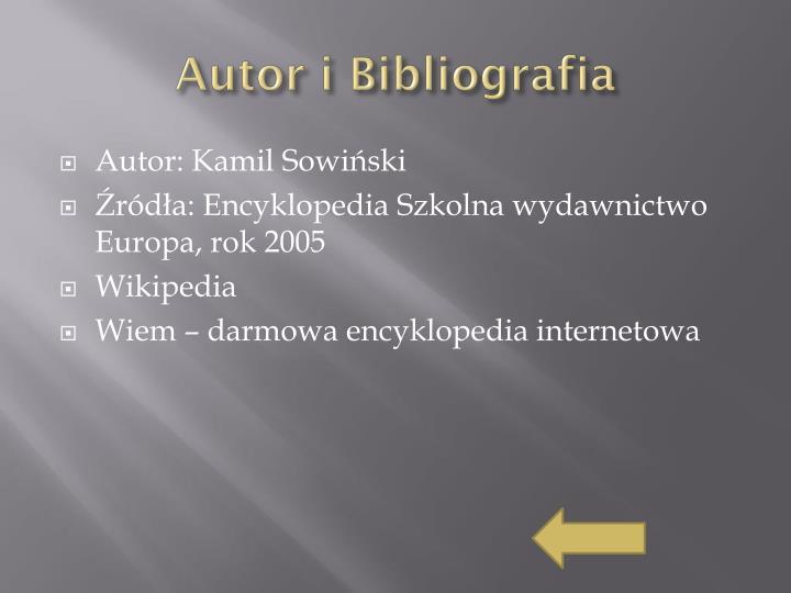 Autor i Bibliografia