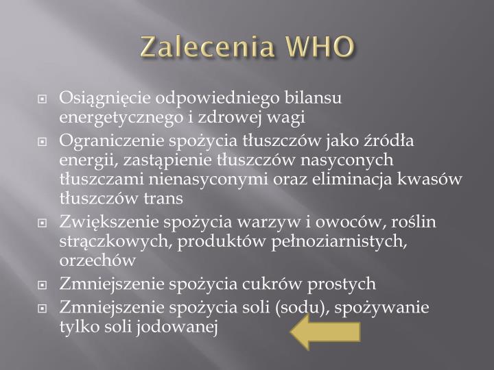 Zalecenia WHO