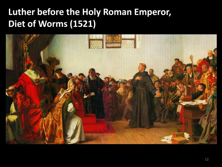 Luther before the Holy Roman Emperor,
