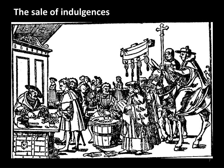 The sale of indulgences