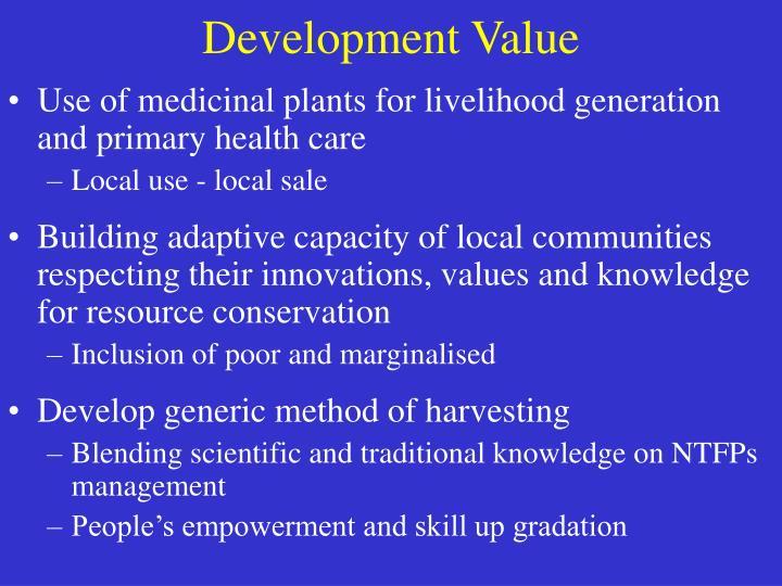 Development Value
