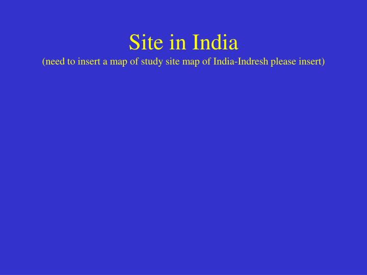 Site in India
