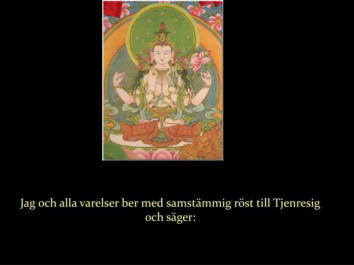 Jag och alla varelser ber med samstämmig röst till Tjenresig och säger: