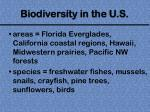 biodiversity in the u s