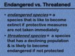 endangered vs threatened