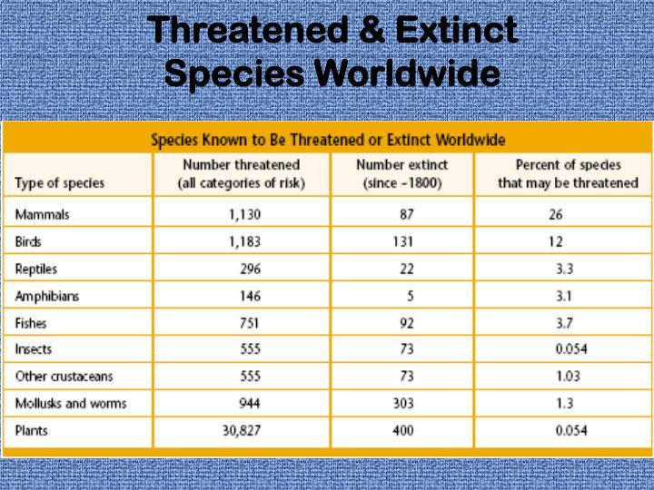 Threatened & Extinct