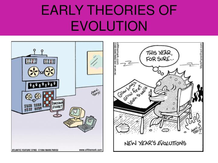 EARLY THEORIES OF EVOLUTION