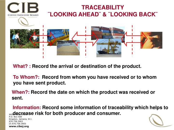 TRACEABILITY                          ¨LOOKING AHEAD¨ & ¨LOOKING BACK¨