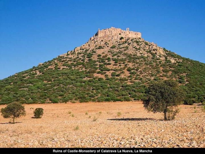 Ruins of Castle-Monastery of Calatrava La Nueva, La Mancha