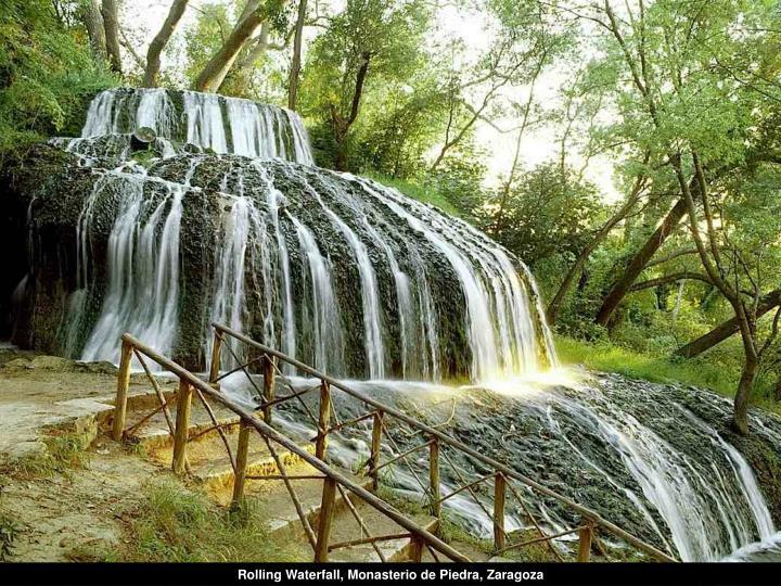 Rolling Waterfall, Monasterio de Piedra, Zaragoza