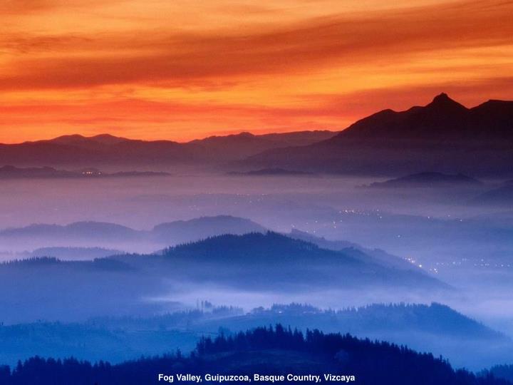 Fog Valley, Guipuzcoa, Basque Country, Vizcaya