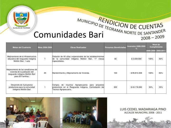 Comunidades Bari