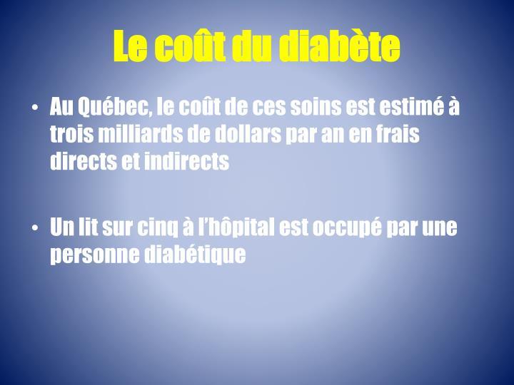 Le coût du diabète