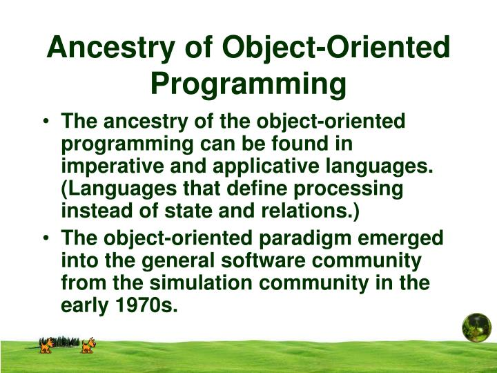 Ancestry of Object-Oriented Programming