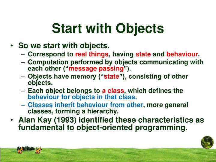 Start with Objects