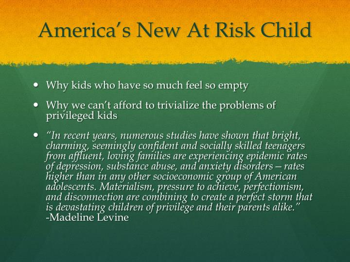 America s new at risk child
