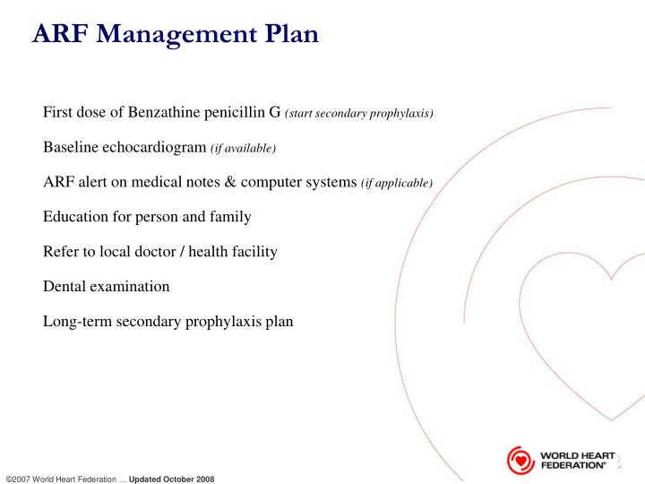 ARF Management Plan