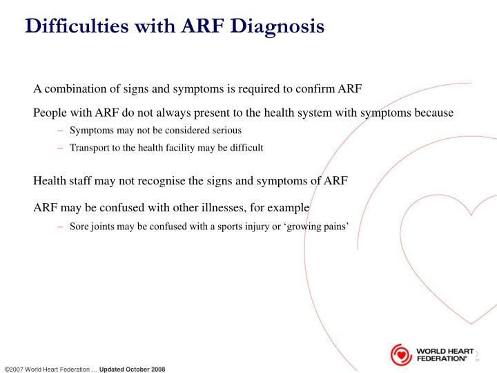 Difficulties with ARF Diagnosis