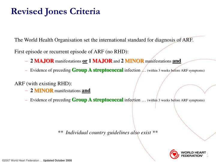 Revised Jones Criteria