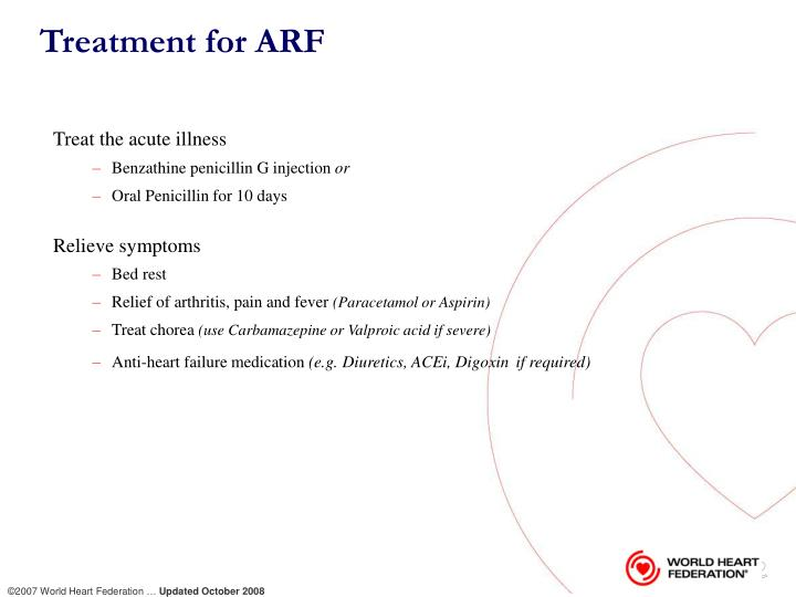 Treatment for ARF