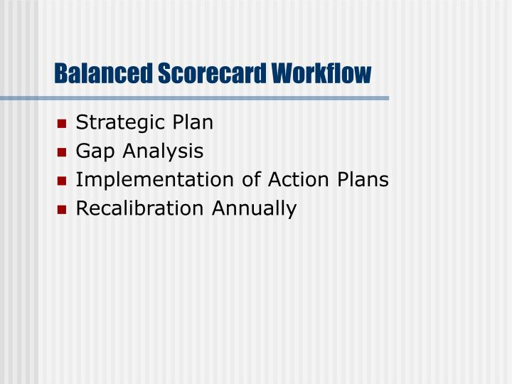 Balanced Scorecard Workflow