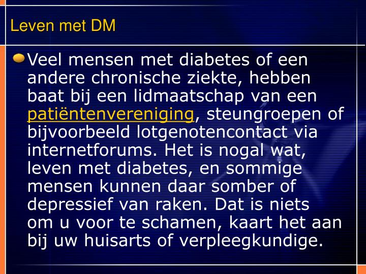 Leven met DM