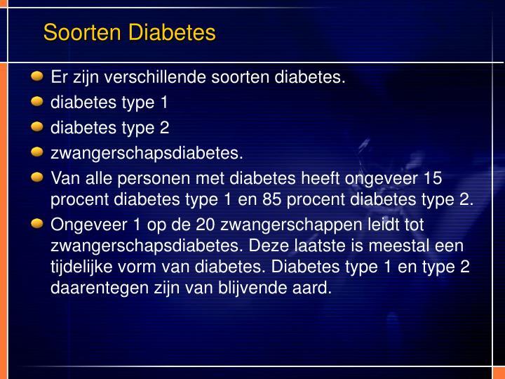 Soorten Diabetes