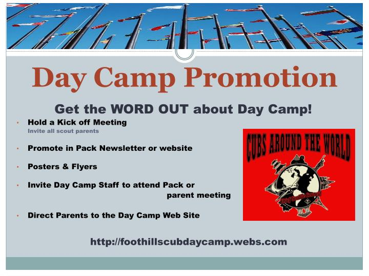 Day Camp Promotion