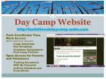 day camp website