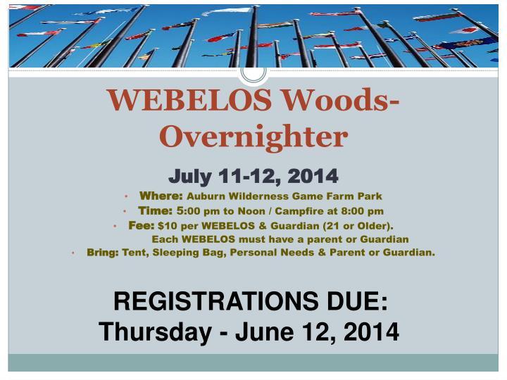 WEBELOS Woods-Overnighter