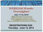 webelos woods overnighter