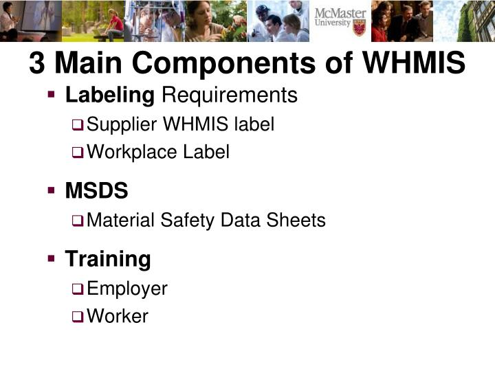 3 Main Components of WHMIS