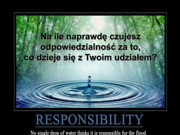 Na ile naprawdę czujesz odpowiedzialność za to,