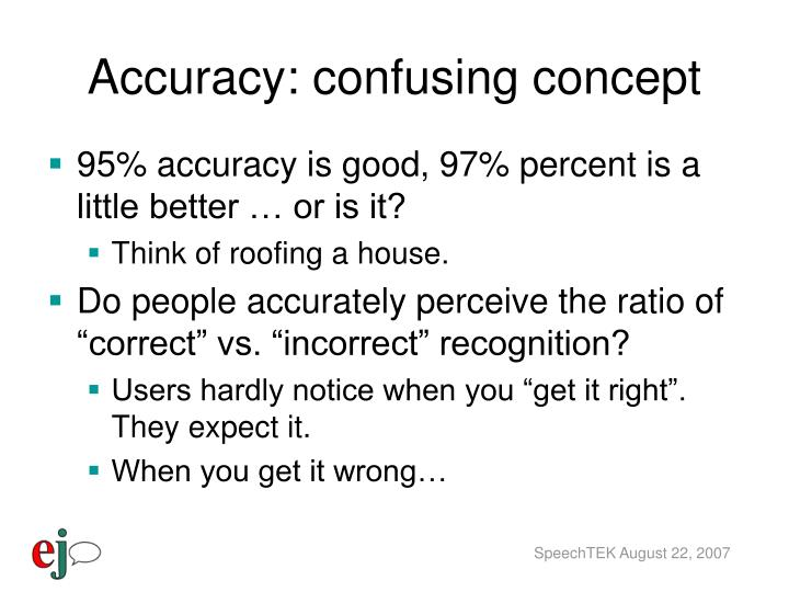 Accuracy: confusing concept