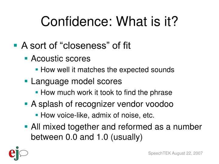 Confidence: What is it?