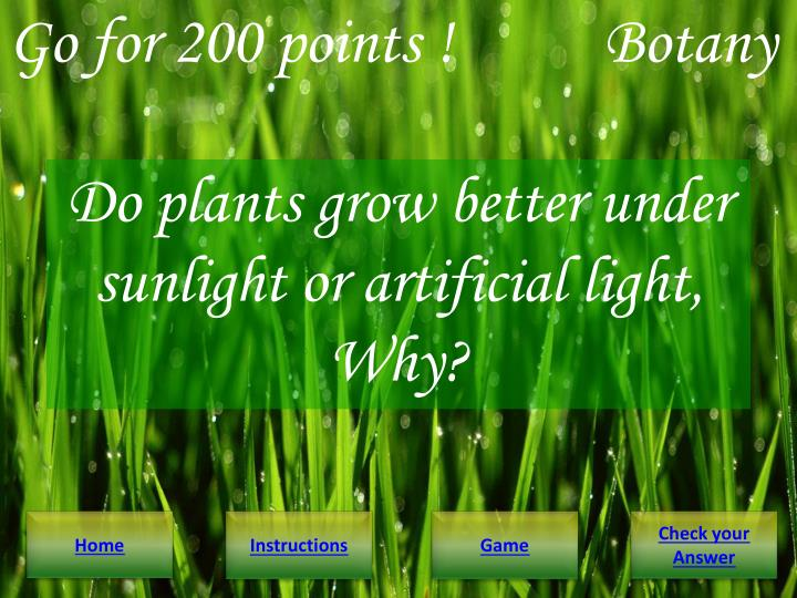 Go for 200 points !