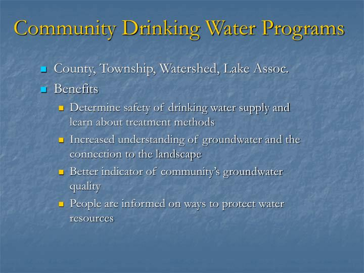 Community Drinking Water Programs