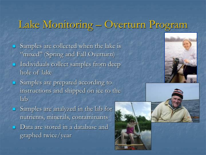 Lake Monitoring – Overturn Program
