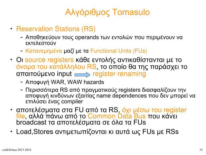 Αλγόριθμος Tomasulo