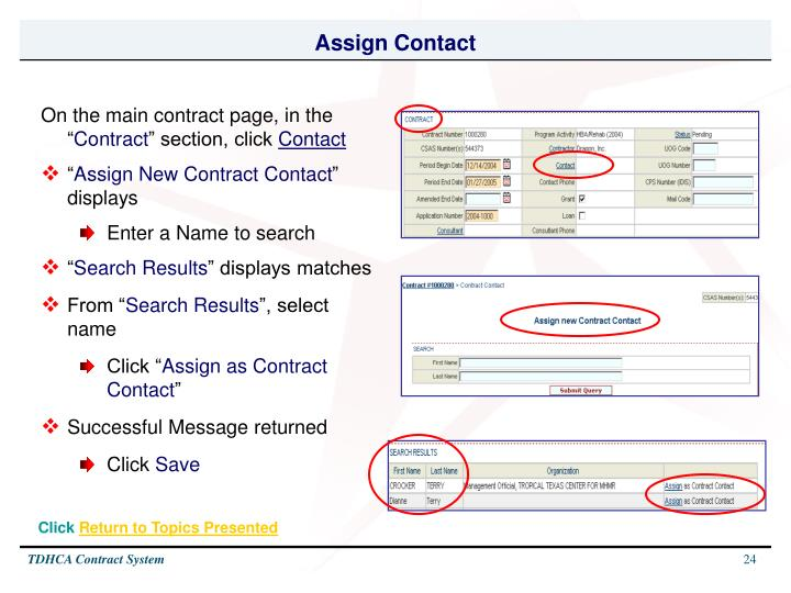 Assign Contact