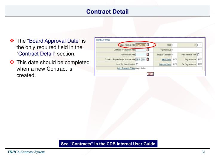 Contract Detail