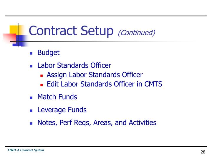 Contract Setup