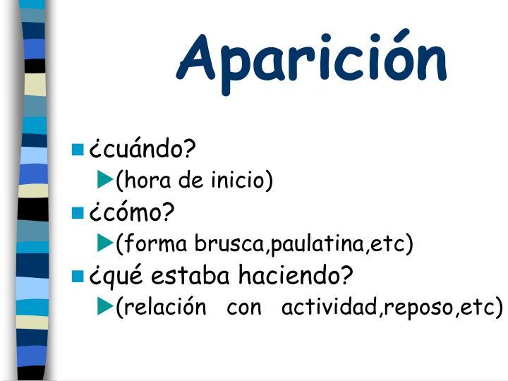 Aparición