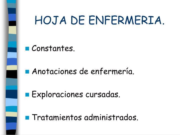 HOJA DE ENFERMERIA.