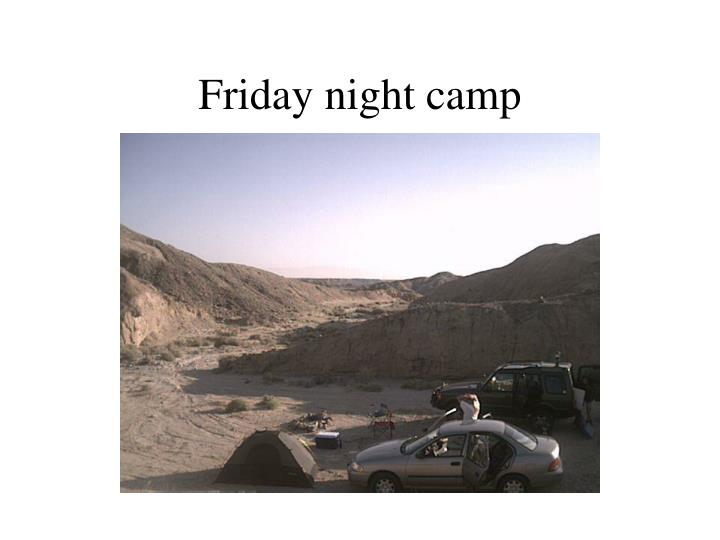 Friday night camp