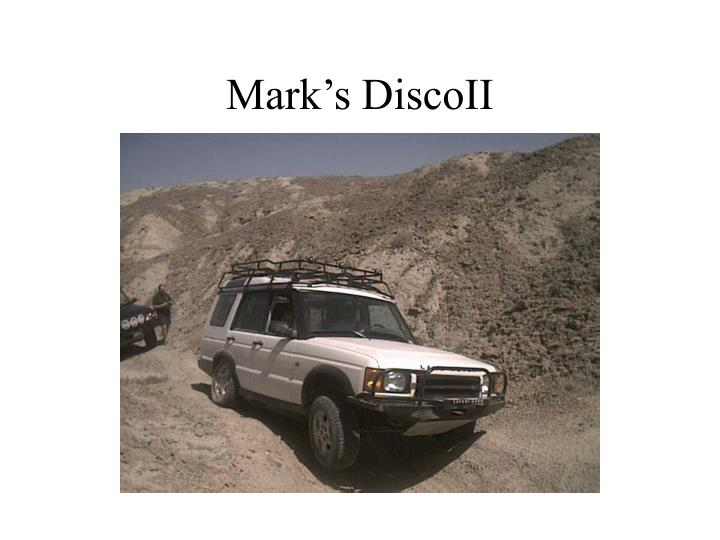 Mark's DiscoII
