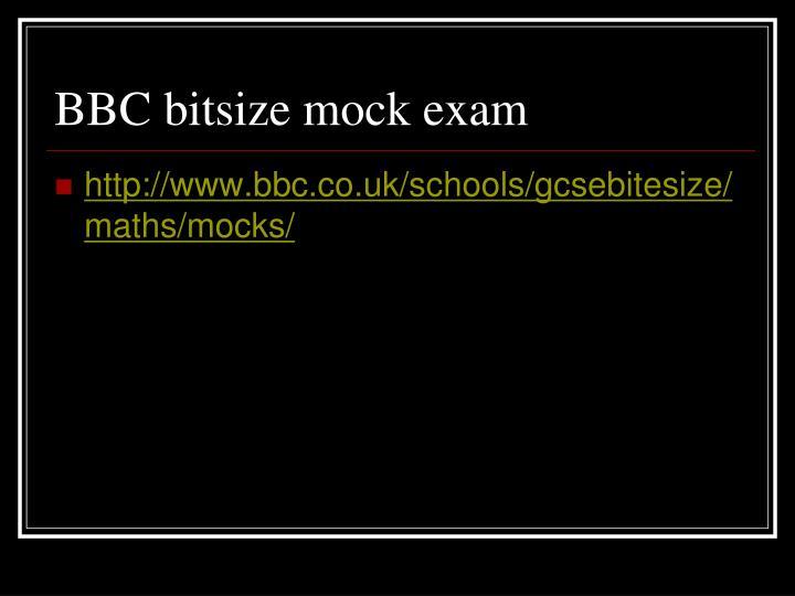 BBC bitsize mock exam