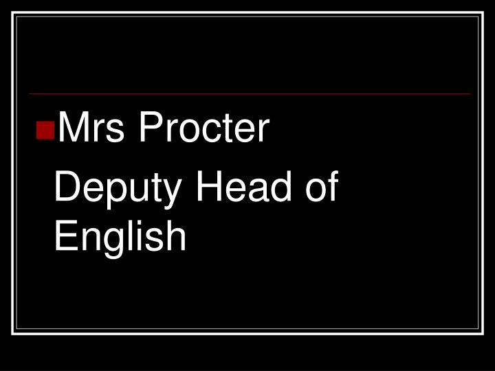 Mrs Procter